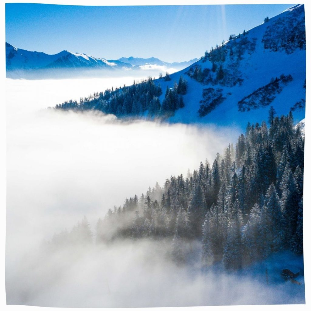 Beauté hivernale des Alpes suisses